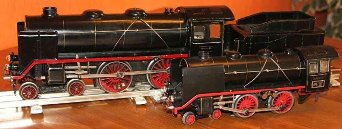 maerklin e 921 spielzeug eisenbahn uhrwerk-dampflokomotive schwarz spur 1