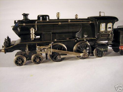 marklin maerklin ece 1020 engine clockwork steam locomotive tender  gray black gauge 0