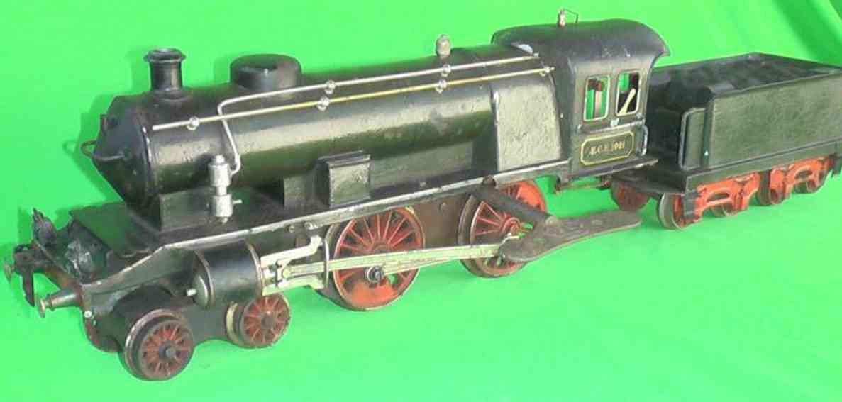 marklin maerklin ece 1021 railway toy engine clockwork steam locomotive gray black gauge 1