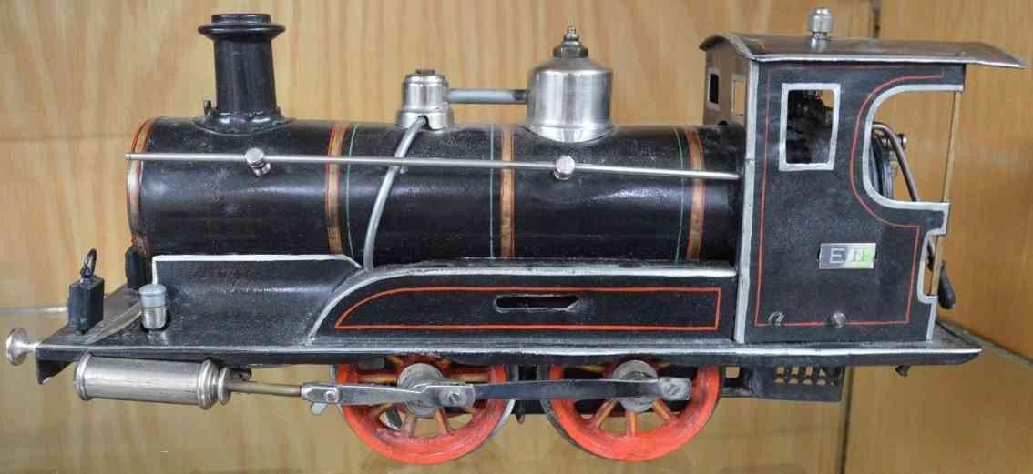 maerklin eII spielzeug eisenbahn lokomotive schwarz spur 2