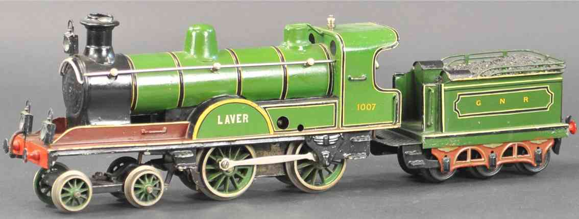 marklin maerklin railway toy engine englisch clockwork locomotive green laver 1007 gnr gauge 1