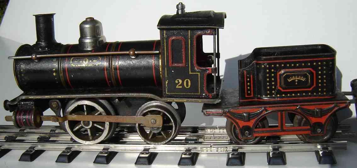 maerklin f 1030 spielzeug eisenbahn uhrwerk-dampflokomotive tender schwarz spur 0