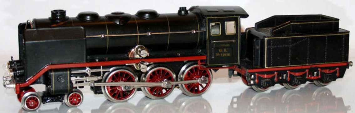 maerklin gr 70/12920 eisenbahn 20-volt dampflokomotive schwarz spur 0