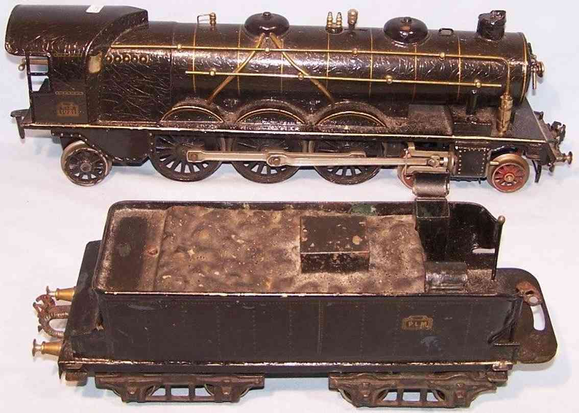 marklin maerklin h 1021 railway toy engine clockwork steam locomotive black gauge 1