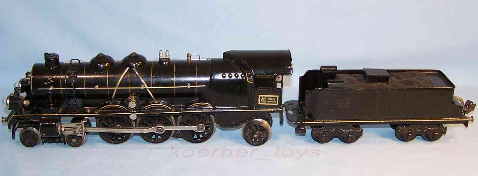 maerklin h 3020 spielzeug eisenbahn starkstrom-dampflokomotive tnder schwarz spur 0