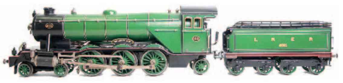 marklin maerklin h 4021 lner toy engine english spirit steam locomotive green black guage 1