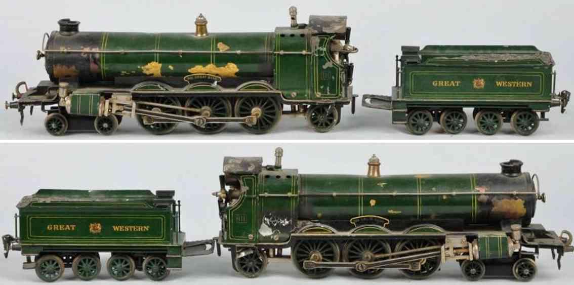 maerklin h 4021 lner eisenbahn englische spiritus-dampflokomotive gruen schwarz spur 1