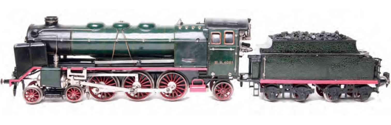 maerklin hr 4021 spielzeug eisenbahn spiritusdampflokomotive gruen schwarz spur 1