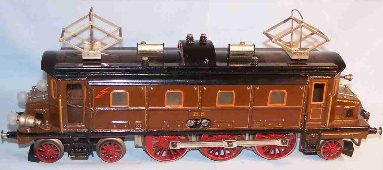 maerklin hs 65/13021 spielzeug eisenbahn elektrolokomotive braun schwarz spur 1