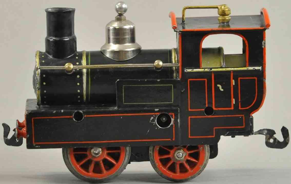 maerklin i 1060 eisenbahn zahnrad uhrwerk-dampflokomotive schwarz spur 0