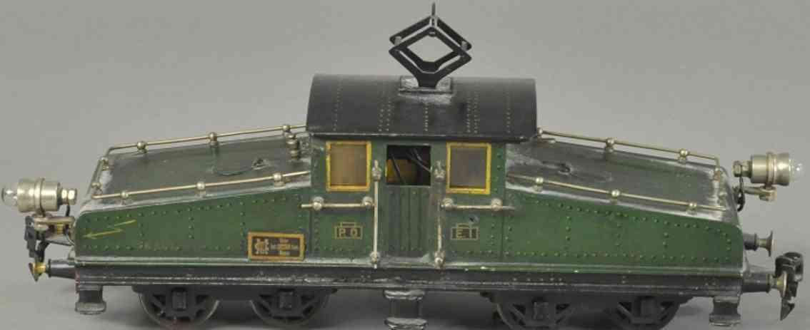 maerklin p0 e1 eisenbahn vollbahnlokomtoive elektrisch gruen schwarz spur 0