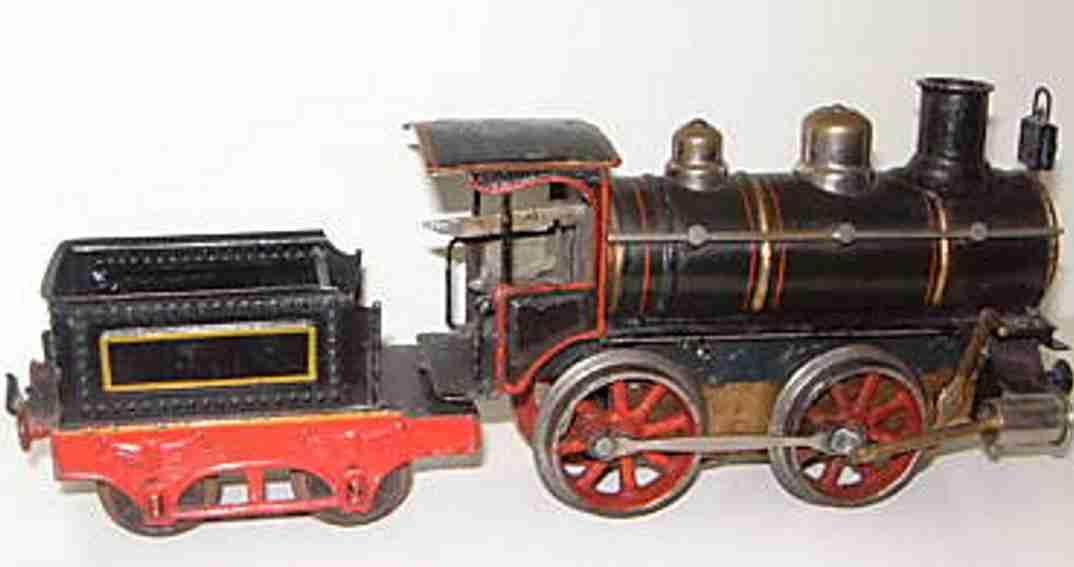 maerklin pr 1021 spielzeug eisenbahn uhrwerk-dampflokomotive schwarz spur 1