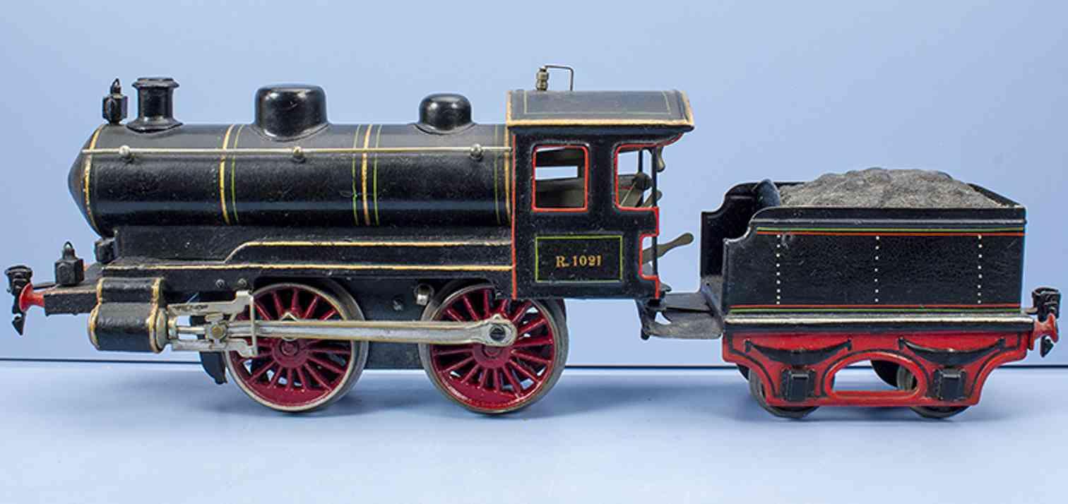 maerklin r 1021 1919 spielzeug eisenbahn uhrwerk-dampflokomotive spur 0