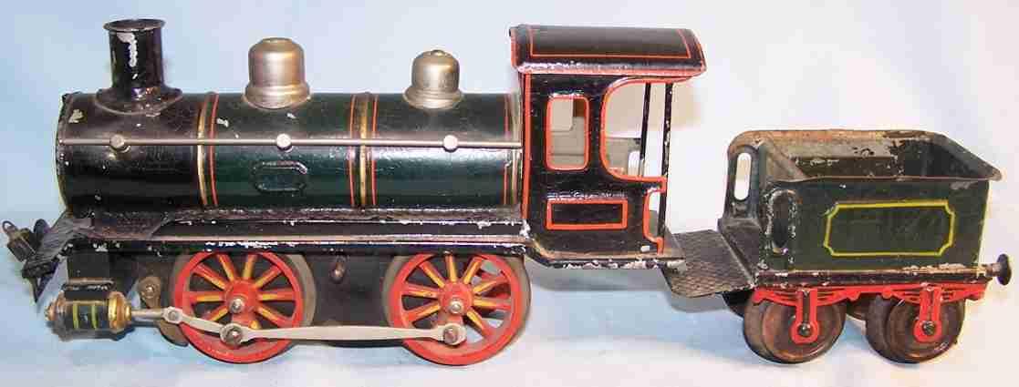 maerklin r 1022 spielzeug eisenbahn uhrwerk-dampflokomotive tender gruen schwarz spur 2