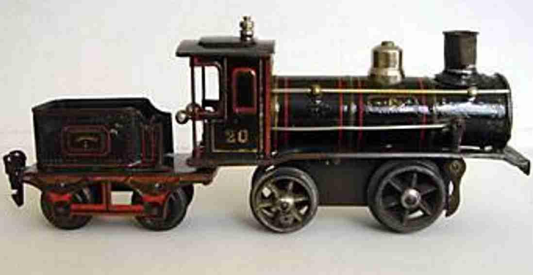 maerklin t 1030 spielzeug eisenbahn uhrwerk-dampflokomotive tender schwarz spur 0