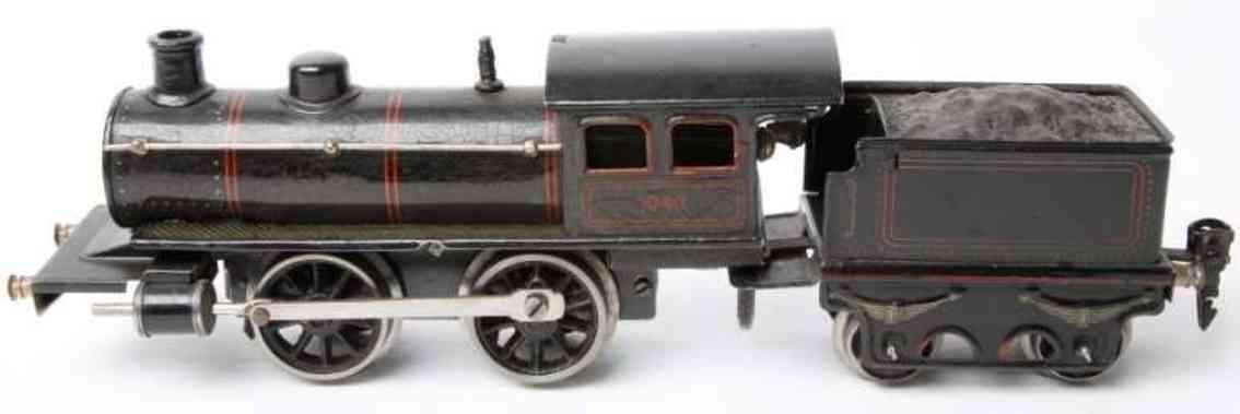 maerklin r 1040 eisenbahn uhrwerk-dampflokomotive tender schwarz spur 0