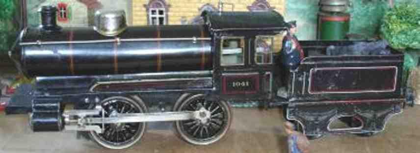 maerklin r 1041 spielzeug eisenbahn uhrwerk-dampflokomotive schwarz spur 1