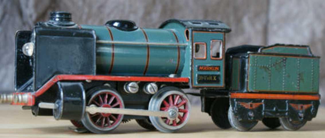 maerklin R r spielzeug eisenbahn elektrische 20 volt dampflokomotive tender blau spur 0