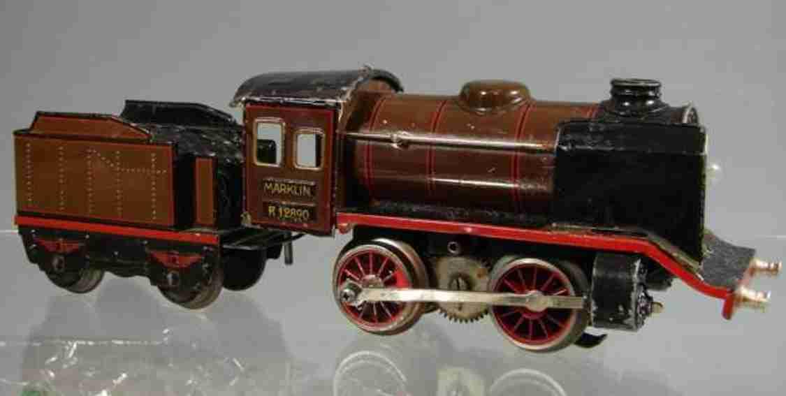 maerklin t 12890 spielzeug eisenbahn 20 volt dampflokomotive tender braun spur 0
