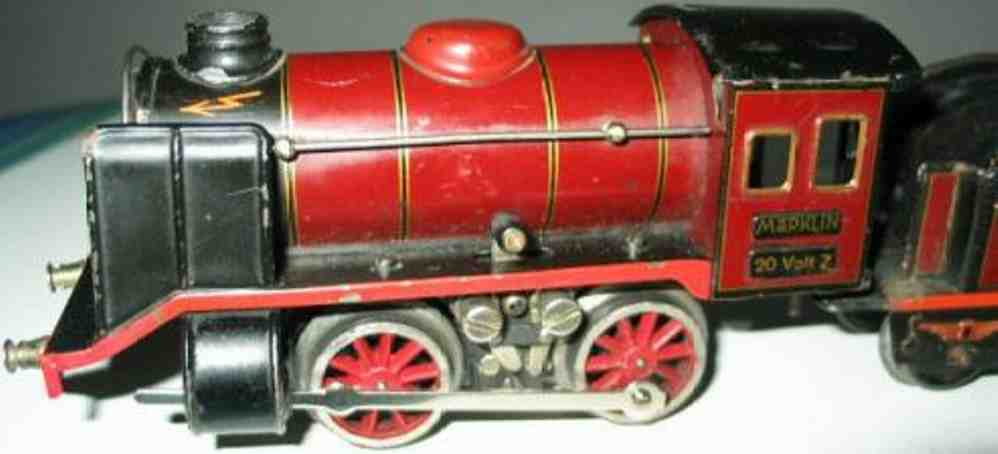 maerklin r 12890 spielzeug dampflokomotive 20-volt mit tender rot spur 0