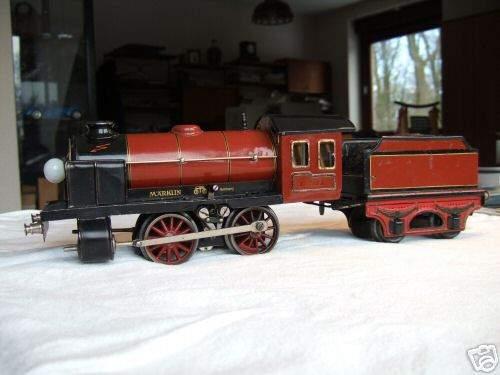 maerklin r 12971 w 20 volt dampflokomotive rotbraun schwarz spur 1