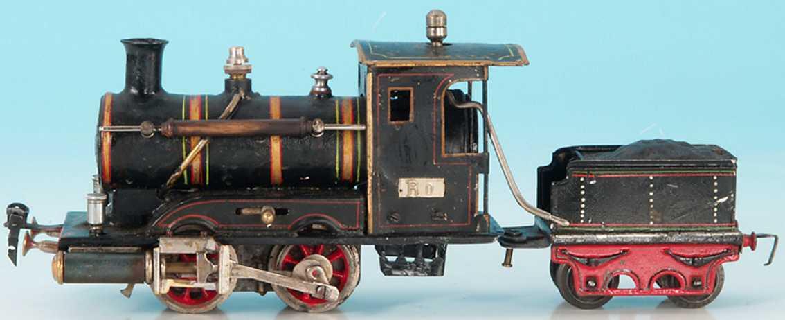 maerklin r 4020 spielzeug eisenbahn spiritus-dampflokomotive tender schwarz spur 0