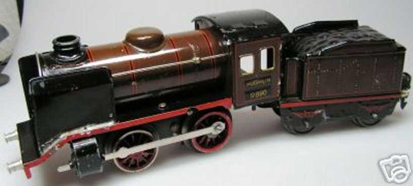 maerklin r 890 spielzeug eisenbahn uhrwerk-dampflokomotive spur 0