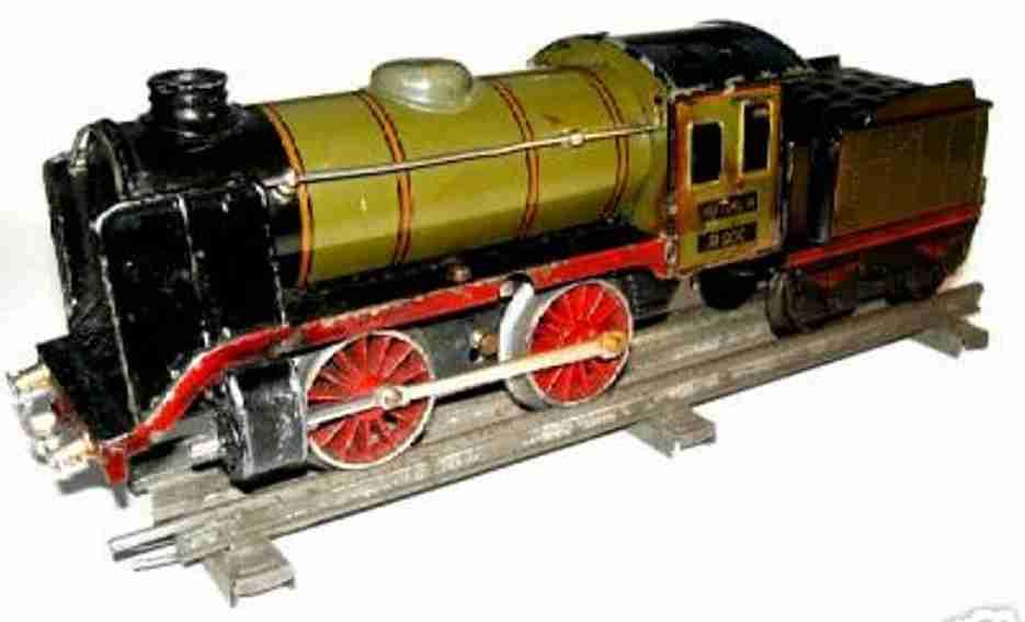 maerklin r 900 spielzeug uhrwerk-dampflokomotive tender olivgruen spur 0