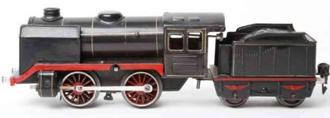 maerklin r 900 spielzeug eisenbahn uhrwerk-dampflokomotive tender schwarz spur 0