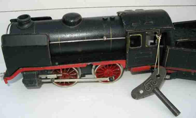 maerklin r 910 spielzeug eisenbahn uhrwerk dampflokomotive schwarz spur 0