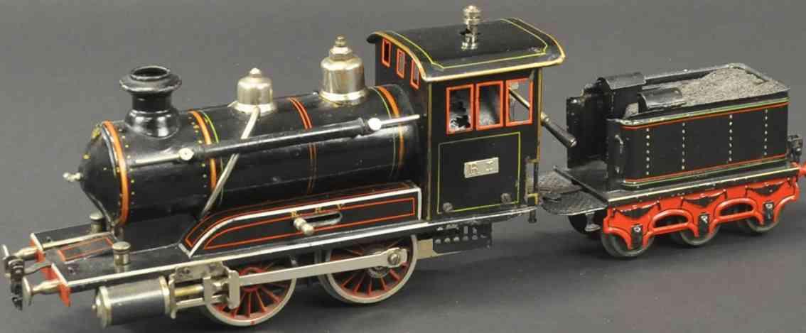 maerklin ri spiritus-dampflokomotive tender schwarz spur 1