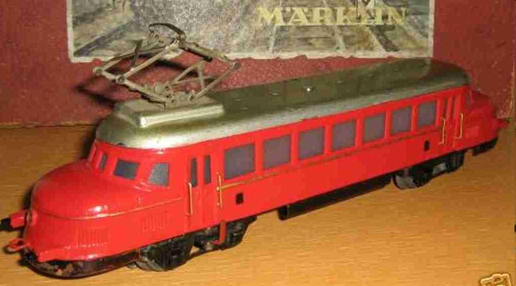 maerklin rp 12930 blech spielzeug schnelltriebwagen rote pfeil spur 0