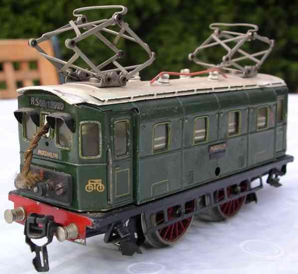 maerklin rs 66/12920 lokomotive 20-volt vollbahn-elektrolokomotive gruen spur 0