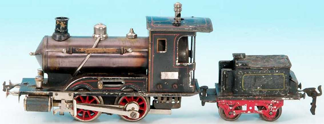 maerklin spielzeug eisenbahn echtdampflokomotive tender spur 0