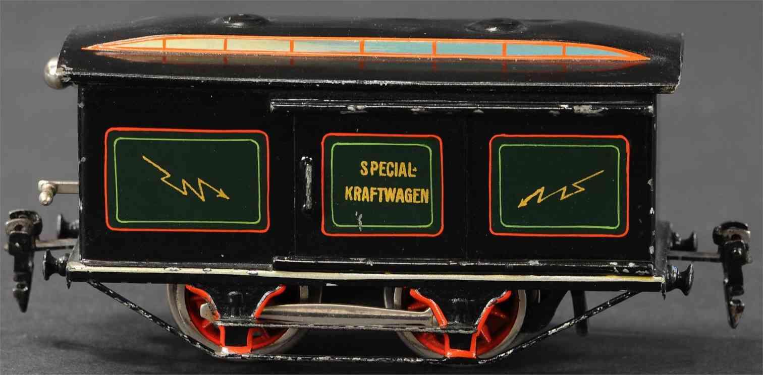 maerklin sk 1020 spielzeug eisenbahn spezial kraftwagen  gruen schwarz spur 0