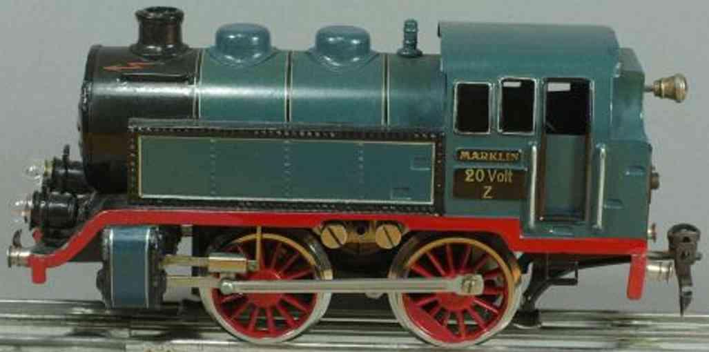 maerklin t 66/12910 spielzeug eisenbahn 20 volt-dampflokomotive blau spur 0