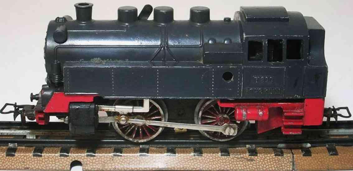 maerklin t 790 1. version spielzeug eisenbahn dampflokomotive blaugrau spur  h0