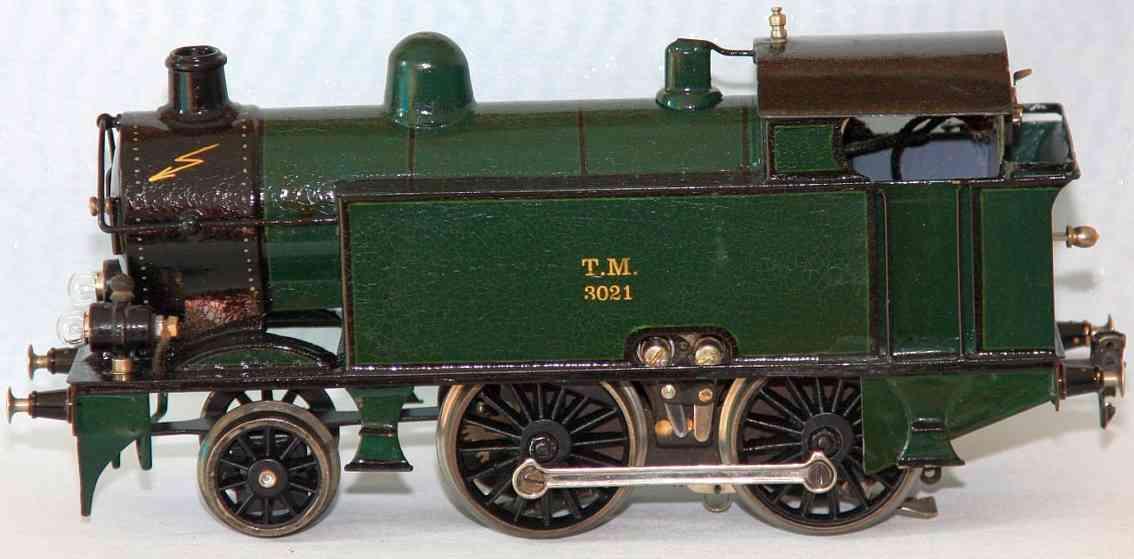 maerklin tmn 64/3021 spielzeug eisenbahn starkstrom-dampflokomotive gruen spur 1