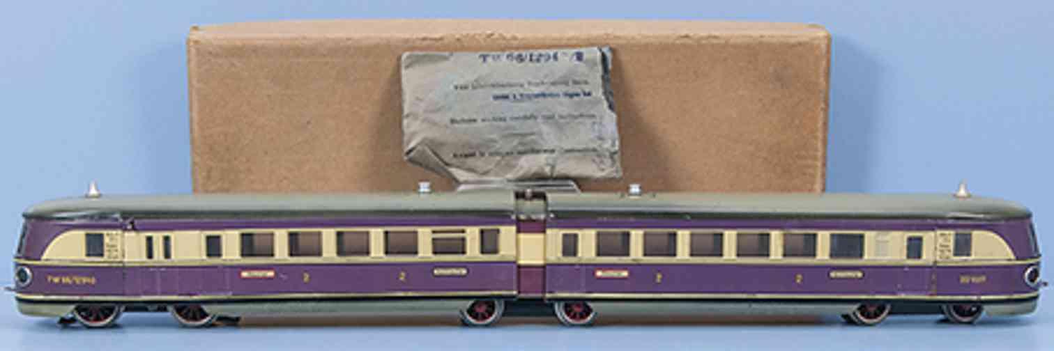 maerklin tw 66/12940/2 spielzeug eisenbahn 20 volt triebwagen violett spur 0