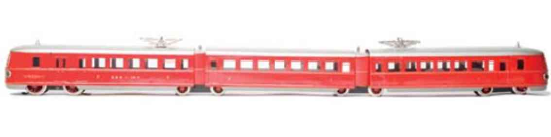 marklin tw 66/12940/3r p toy 3-part quickness railcar red gauge 0