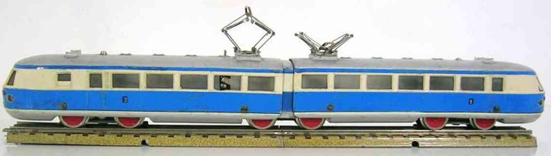 maerklin tw 800-3 spielzeug eisenbahn triebwagenzug elfenbein blau spur h0