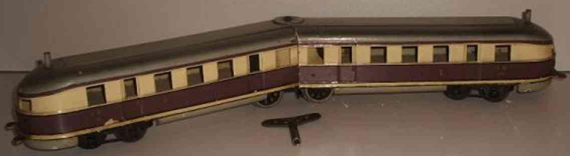 maerklin tw 970 spielzeug eisenbahn schnelltriebwagen violett creme spur 0
