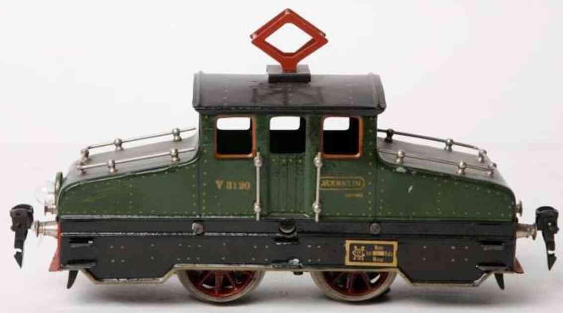 maerklin v 3120 spielzeug eisenbahn starkstrom-lokomotive gruen spur 0
