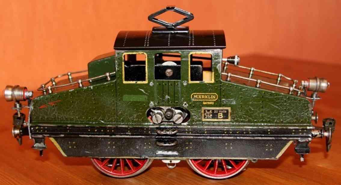 maerklin v 66/13021 spielzeug eisenbahn 20 volt vollbahnlokomotive gruen schwarz spur 1