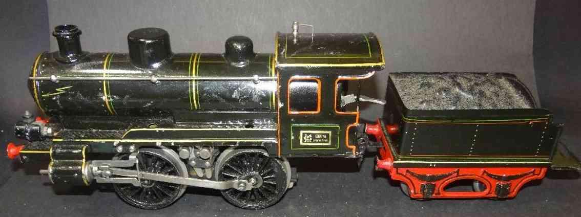 maerklin spielzeug eisenbahn starkstrom dampflokomotive tender spur 0