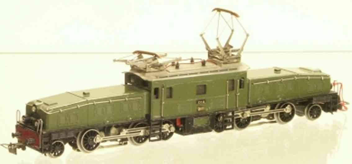 maerklin ccs 800-1 spielzeug eisenbahn elektrolokomotive krokodil gruen spur h0