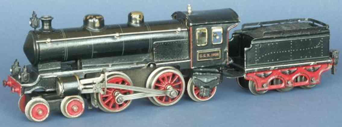 marklin maerklin cem 1020 railway toy engine clockwork steam locomotive black gauge 0