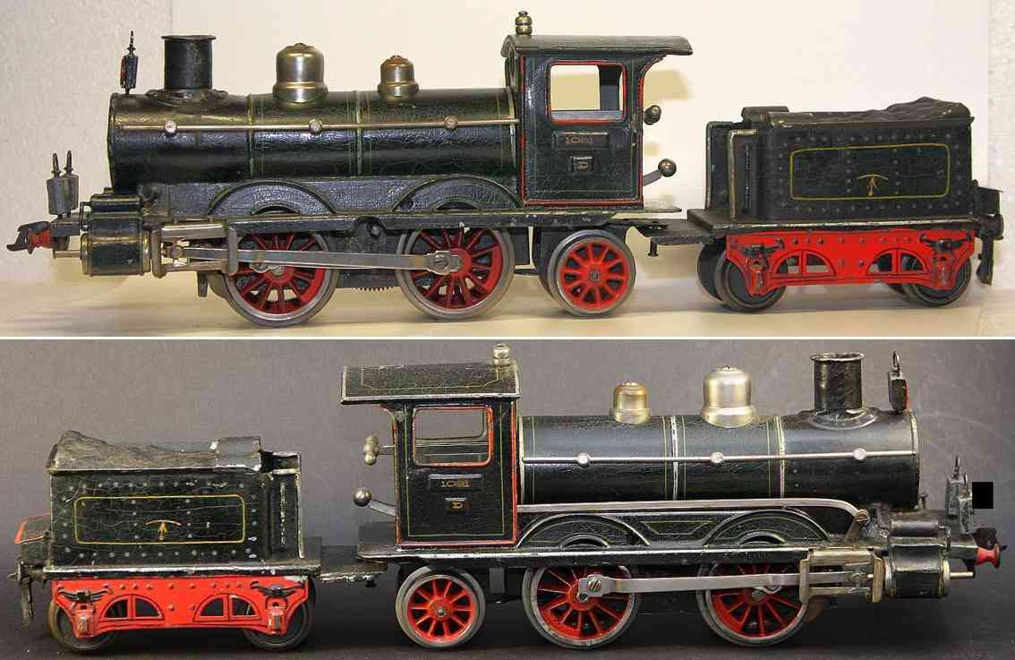 maerklin d 1021 spielzeug eisenbahn uhrwerkdampflokomotive schwarz spur 1