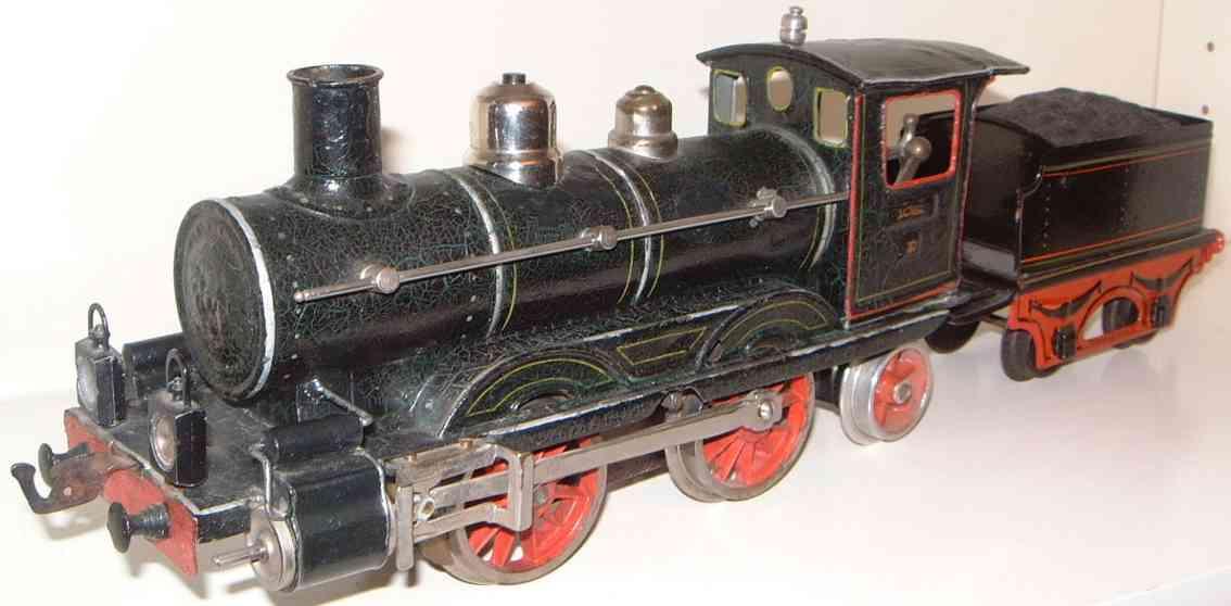 maerklin d 1021 spielzeug eisenbahn uhrwerk-dampflokomotive spur 1