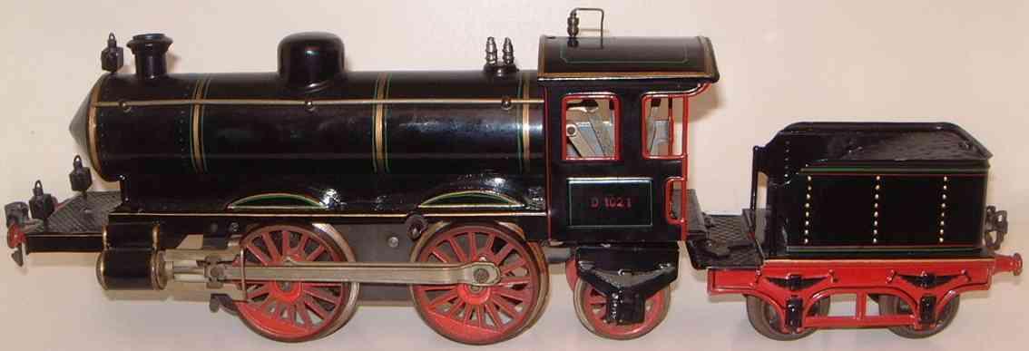 marklin maerklin d 1021 railway toy engine tender steam locomotive gauge 1